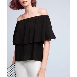 Holding Horses black off the shoulder blouse